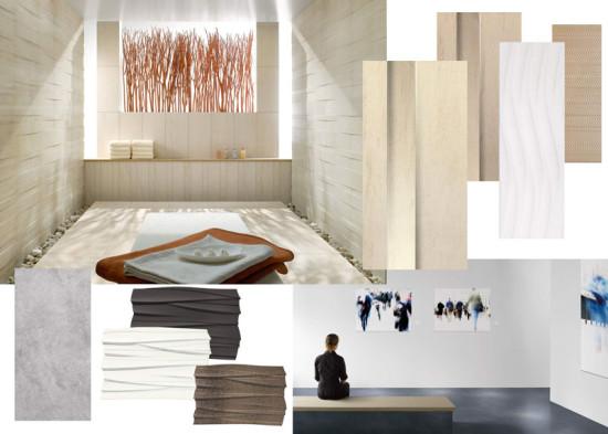 Collage extravagante Wandfliesen