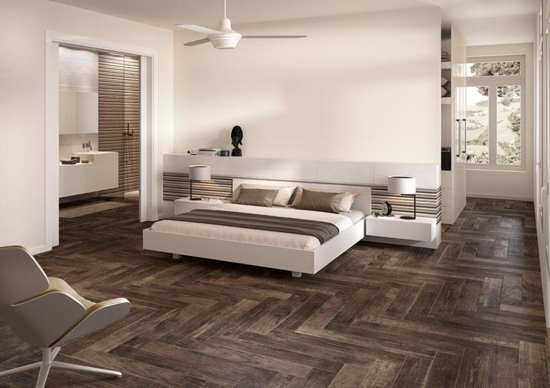 Charming Fliesen Holzoptik Schlafzimmer #2: Bodenfliesen In Holzoptik: Riegelformate Erlauben Ungewöhnliche  Verlegemuster