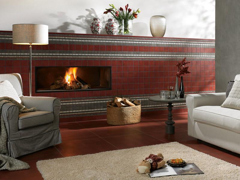 fliesen sind ideale belagswahl an kamin und ofen. Black Bedroom Furniture Sets. Home Design Ideas