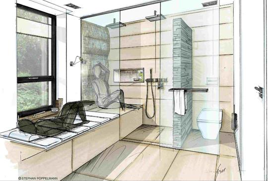 badsanierung profi planer kreieren auch auf schwierigem grundriss b der zum wohlf hlen. Black Bedroom Furniture Sets. Home Design Ideas