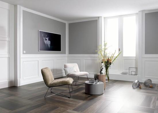 Der Garant für Gemütlichkeit: Die Holzoptik - auch Fliesen können die Anmutung und die Oberflächenstruktur von Holz täuschend echt nachbilden.