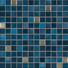 Mosaikfliese von Jasba in Metallic Blau