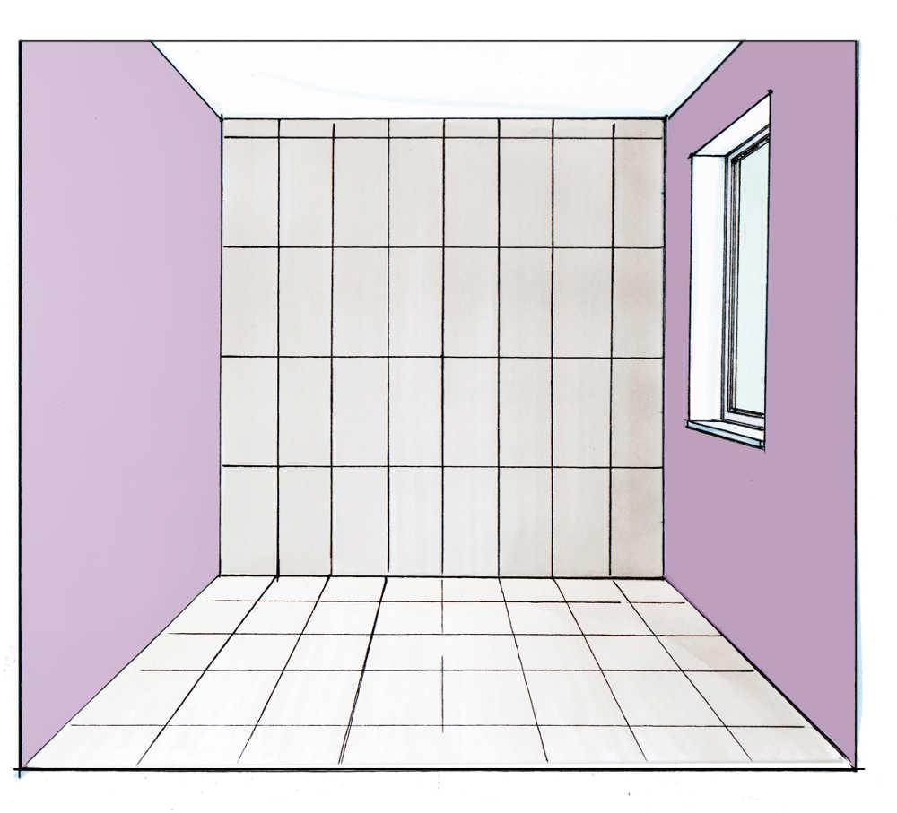 raumproportionen mit fliesen im richtigen format verbessern. Black Bedroom Furniture Sets. Home Design Ideas