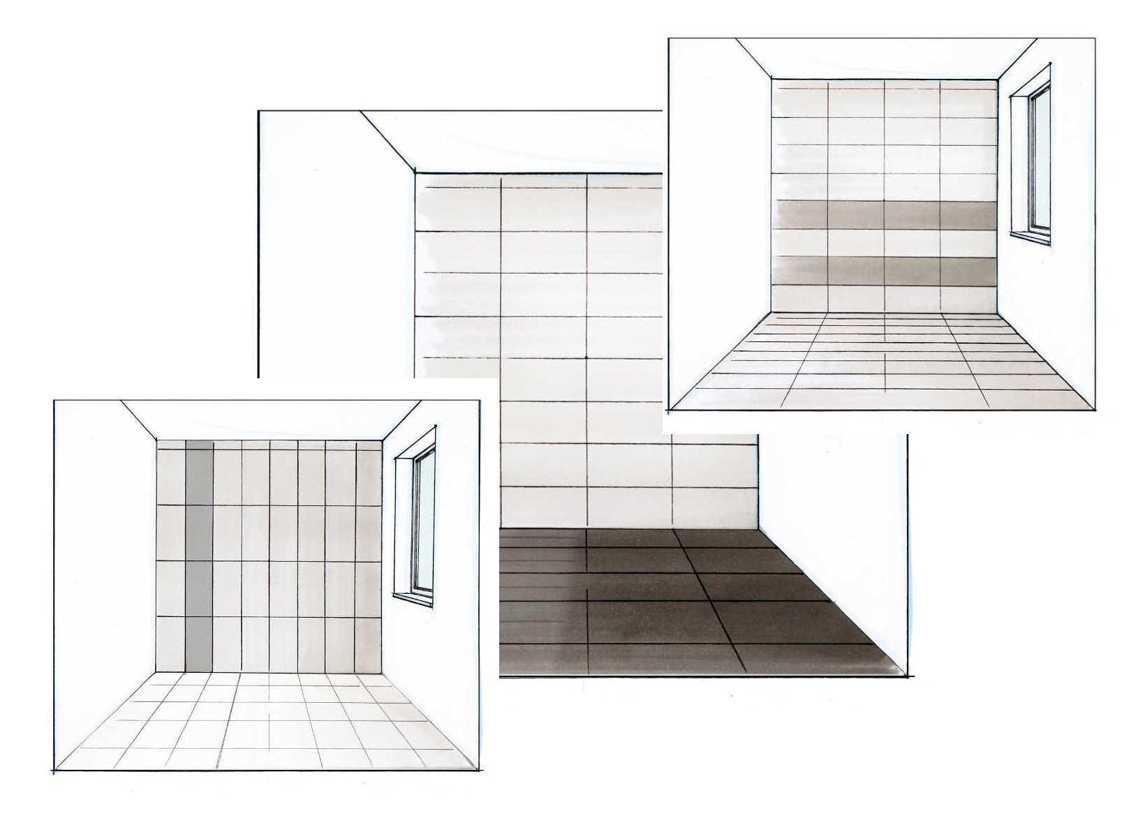 Raumproportionen mit fliesen im richtigen format verbessern for Fenster 60 x 30