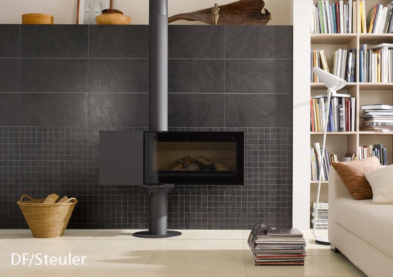 Fliesen sind nicht nur am Boden, sondern auch an der Wand ein dekoratives, robustes und dauerhaft komfortables Belagsmaterial. Foto: DF/Steuler