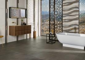 Fliesen in Natursteinoptik bringen Wohlfühlatmosphäre ins Badezimmer