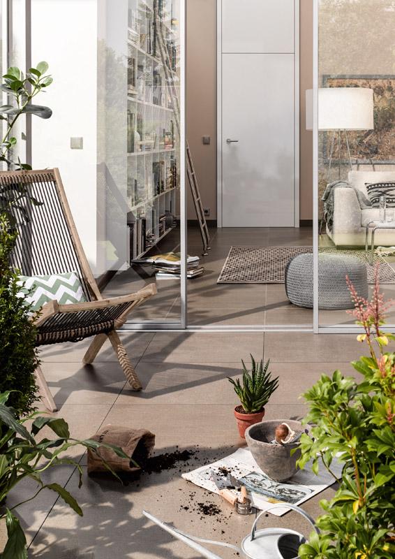 bodenfliesen im wintergarten. Black Bedroom Furniture Sets. Home Design Ideas