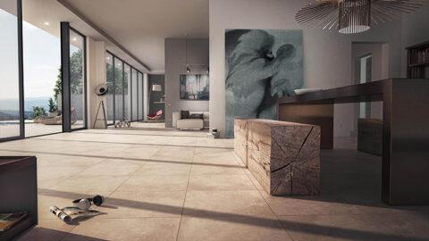 Bodenfliesen für den Wohnbereich und die Terrasse