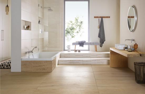 Wohlfühlbad für die ganze Familie: Fliesen in Holzoptik
